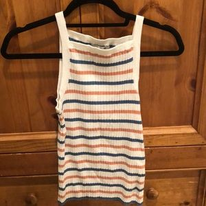Madewell never worn striped halter top